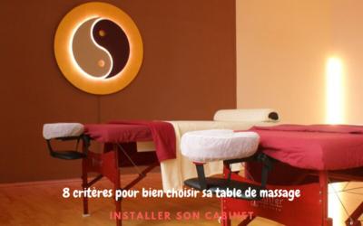 8 critères essentiels pour choisir sa table de massage